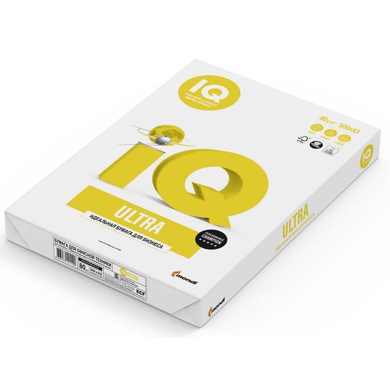 Бумага для офисной техники IQ Ultra (А3, марка A, 80 г/кв.м, 500 листов)