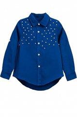 Блузка для девочки синяя купить