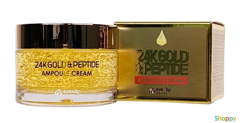 EYENLIP Крем для лица EYENLIP ампульный c 24K золотом и пептидами 24K GOLD& PEEPTIDE ampoule cream 50 мл 1578980953.jpg