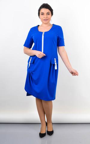 Анатолія. Оригінальна сукня великих розмірів. Електрик.