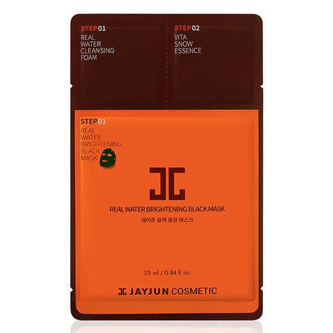 JayJun Real Water Brightening Black Mask,Трёхшаговый экспресс-набор для восстановления кожи 10шт