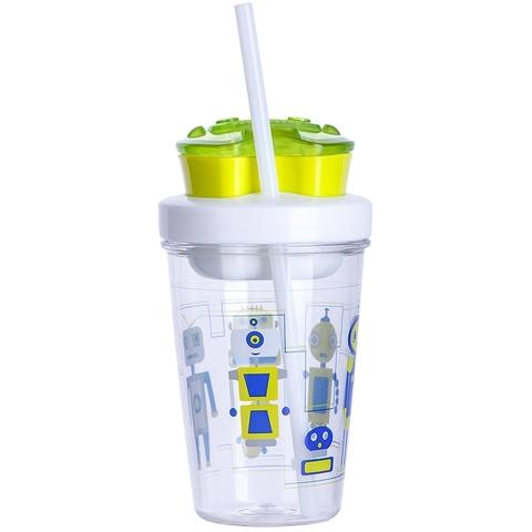 Стакан детский с трубочкой Contigo Snack Tumbler (0,35 литра), зеленый