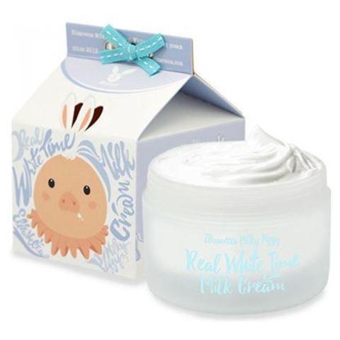 Elizavecca Milky Piggy Real White Time Milk Cream крем осветляющий с козьим молоком для лица
