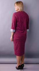 Манго. Гарний костюм для пишних жінок. Бордо.