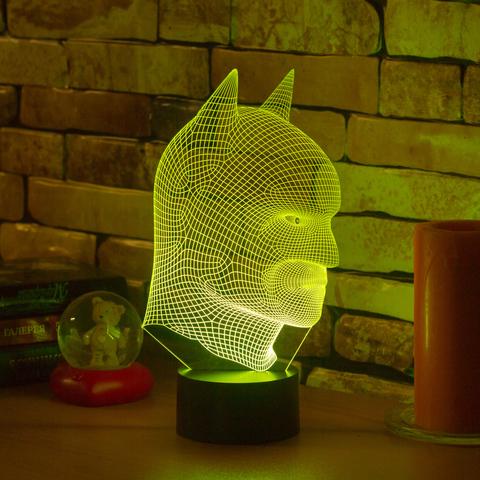 3D ночник Маска Бэтмена
