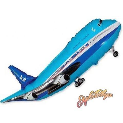 Фольгированный шар Самолет синий