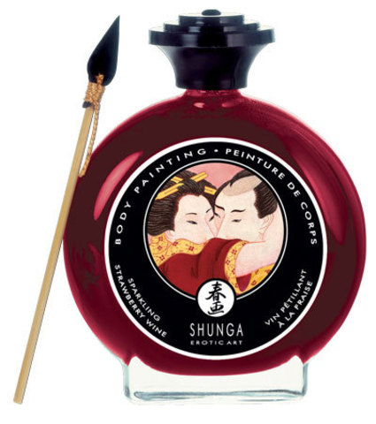 Декоративная крем-краска для тела с ароматом шампанского и клубники