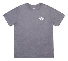 Футболка Alpha Industries Small Logo Grey (Серая)