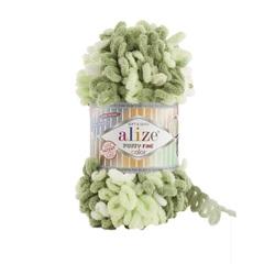 Пряжа Alize Puffy Fine Color цвет 6068