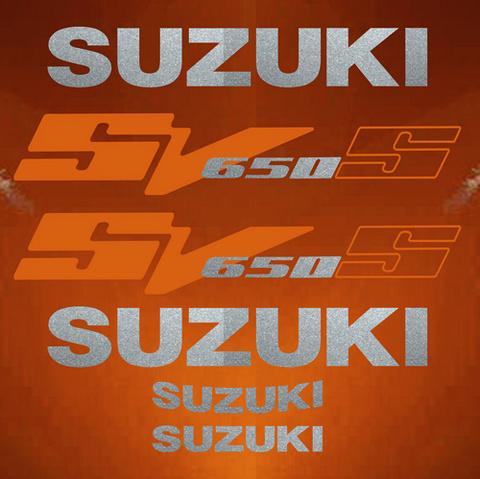 Набор виниловых наклеек на мотоцикл SUZUKI SV 650S 2003