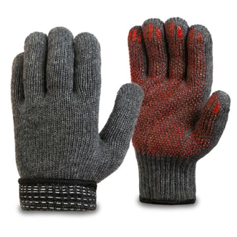 Перчатки шерстяные двойные с антискользящим покрытием