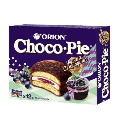Бисквит ORION Choco-Pie Черная смородина 360 г РОССИЯ