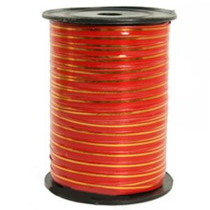 Лента 250м Красная с золотой полосой