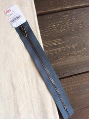 Молния джинсовая №4, Riri, 18см, стальной