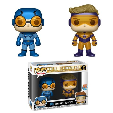 Фигурка Funko Pop! Heroes: DC Heroes Booster Beetle Vinyl Figure (2 Pack), Gold/Blue