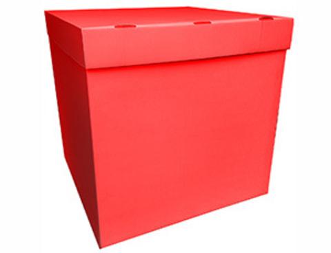Коробка для воздушных шаров с персональным оформлением красная