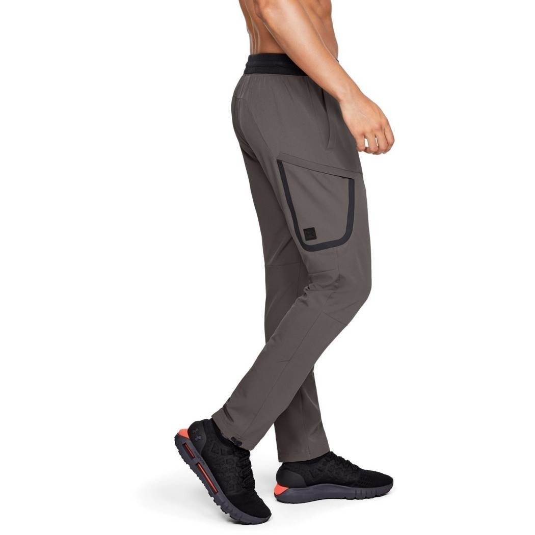 UA UNSTOPPABLE WOVEN CARGO PANT-BRN 1306461-176