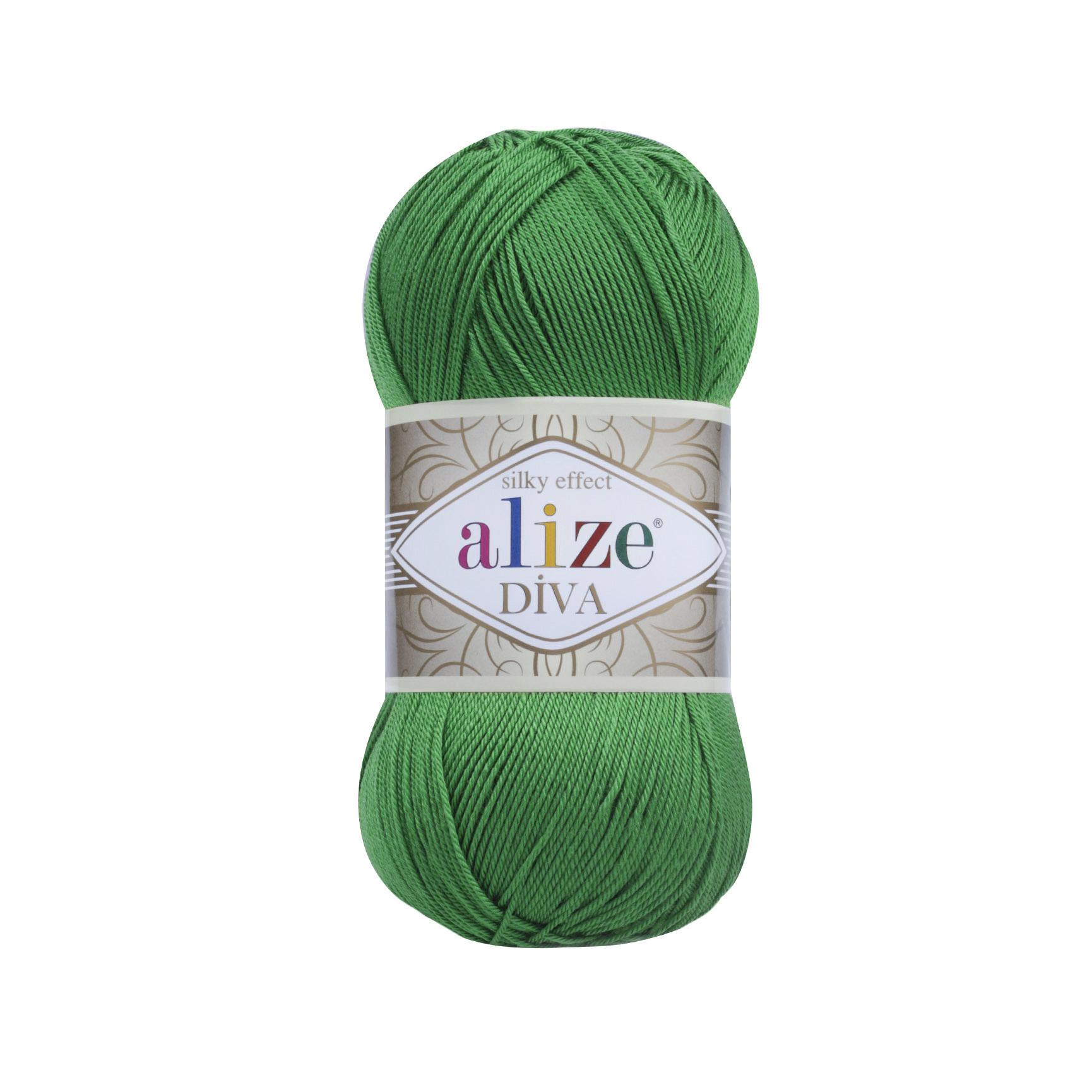Пряжа Alize Diva 123 изумруд