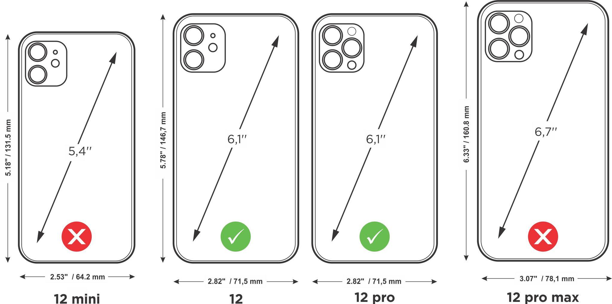 case iphone 12 & 12  pro - ostrich fushia