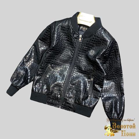 Куртка экокожа мальчику (4-12) 210328-К-74027