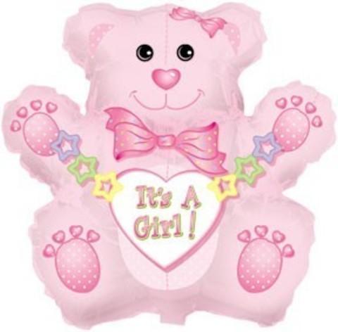 мишка медведь медвежонок выписка девочка розовый