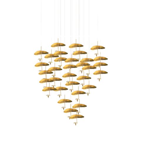 Подвесной светильник копия Gold Moon by Catellani & Smith (32 плафонов)