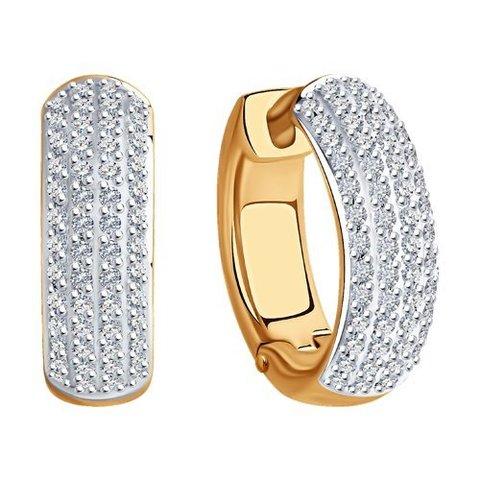 1021760 - Серьги-конго из золота с бриллиантами Infinity   New Classic
