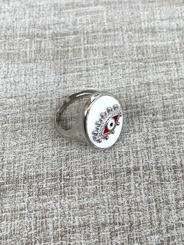 Кольцо Око белое, серебро