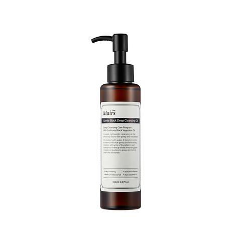 Гидрофильное масло для обезвоженной/сухой кожи, 150 мл / Dear, Klairs Gentle Black Deep Cleansing Oil