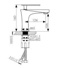 Смеситель KAISER Star 02011  и 02011-2 для раковины схема