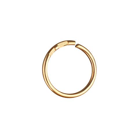 Кольцо для пирсинга в нос 8 мм (лимонное золото)