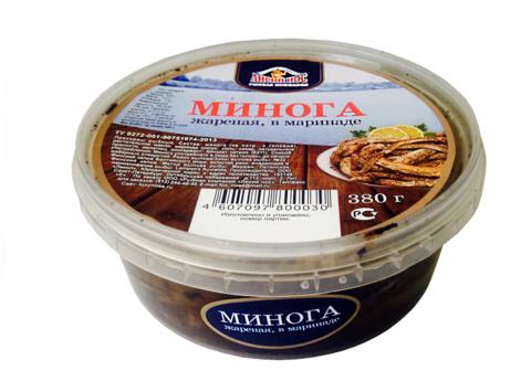 Минога питерская жареная в маринаде 380г (шт)