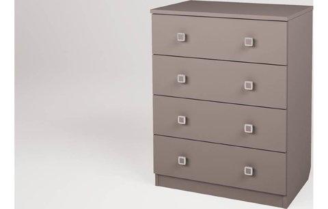 Комод Polini kids Simple c 4 ящиками, серый