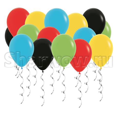 Воздушные шары под потолок Яркое ассорти