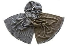 Палантин женский серого и бронзового цвета (5226 PAL 4)