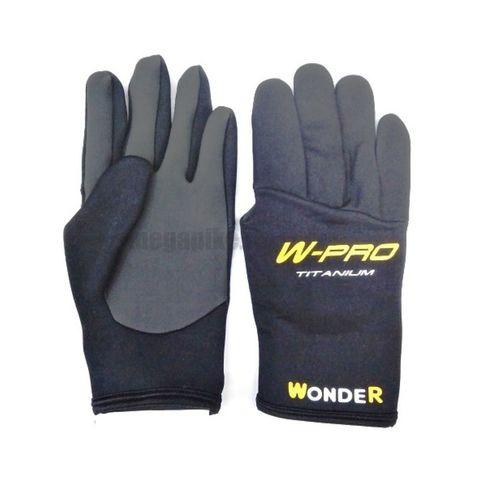 Перчатки Wonder черные с пальцами WG-FGL / размер 3XL