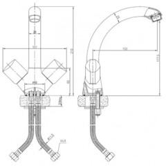 Смеситель KAISER Forte 45033 для кухни схема
