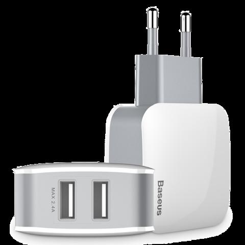Baseus / Сетевой адаптер Letour Dual USB Charger
