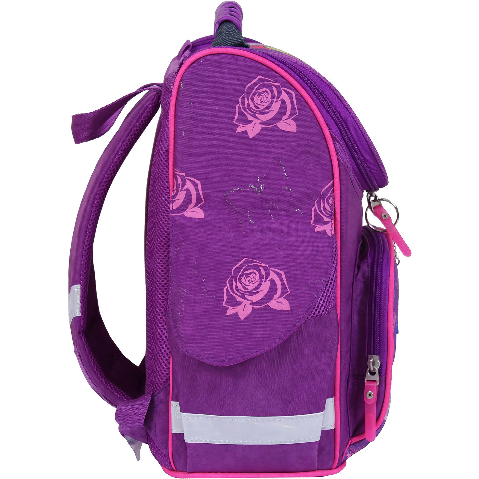 Рюкзак школьный каркасный с фонариками Bagland Успех 12 л. фиолетовый 168к (00551703)
