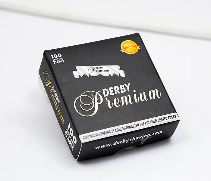 RAZ389 Упаковка профессиональных половинок лезвий Derby Premium (100 шт.)
