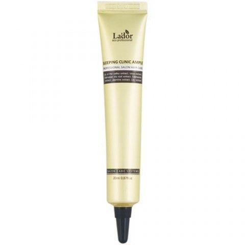 Интенсивная ночная восстанавливающая сыворотка для поврежденных волос Lador Keratin Power Fill Up Sleeping Clinic Ampoule