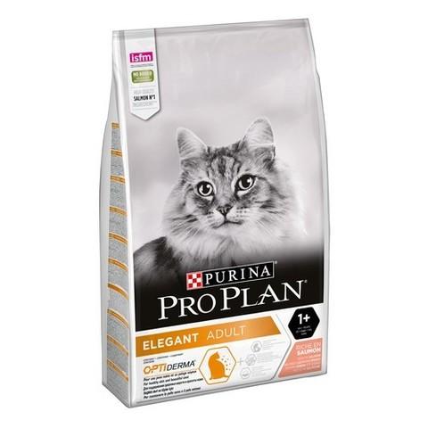 10 кг. PURINA PRO PLAN Сухой корм для кошек с чувствительной кожей с лососем Elegant Salmon