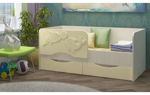 Детская кровать Дельфин-2 МДФ ваниль, 80х160