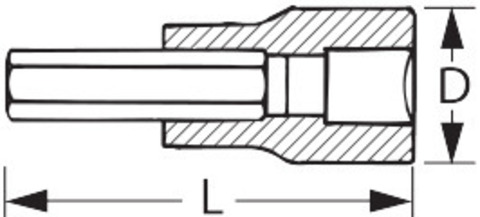 Головка-бита IMPACT, 1/2 дюйма, для Torx®
