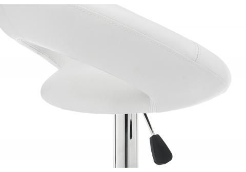 Барный стул Oazis белый 51*51*80 Белый кожзам /Хромированный металл каркас