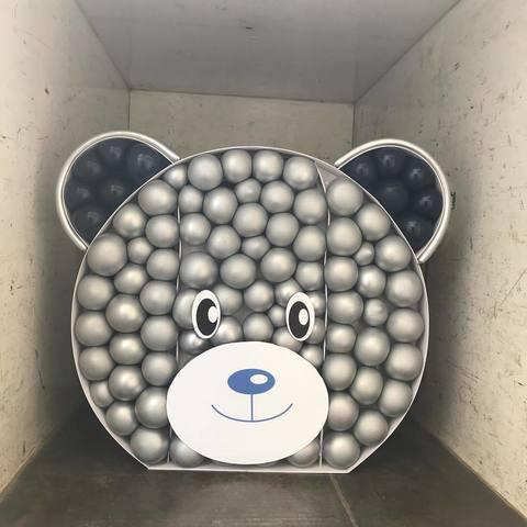 Ростовой медведь из шаров