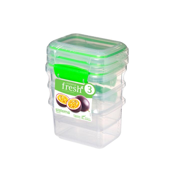 """Набор пищевых контейнеров Sistema """"Fresh"""" 400 мл, 3шт."""