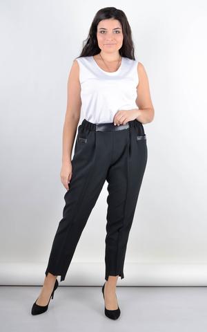 Мальта. Женские классические брюки больших размеров. Черный.