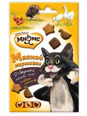 Лакомство для кошек Мнямс Мясной карнавал (утка, индейка, курица)