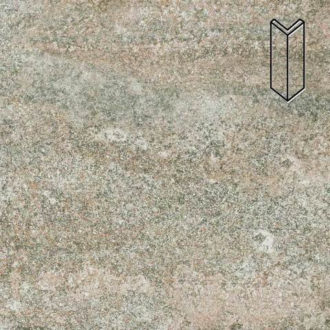 Stroeher - Keraplatte Epos 957 kawe 157х60х60x11 артикул 9000/9010 - Угловой клинкерный подступенок